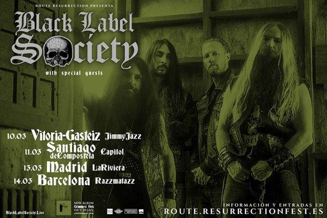 black label society route resurrection 2018
